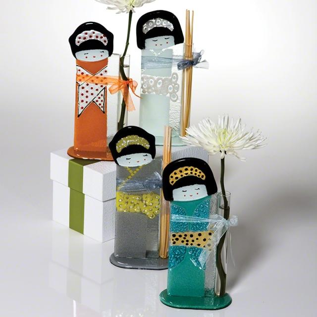 Fused Glass Geisha Diffuser/Bud Vase by Global Views.