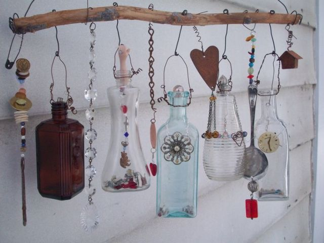 Upcycled Outdoor Mobile by