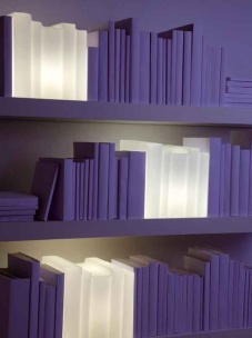 Biblio, Handmade blown glass table lamp, design by Jean-Claude Cardiet, Archiproducts.com