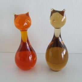 Vintage Swedish Glass Cats http://www.pinterest.com/pin/327214729146095260/