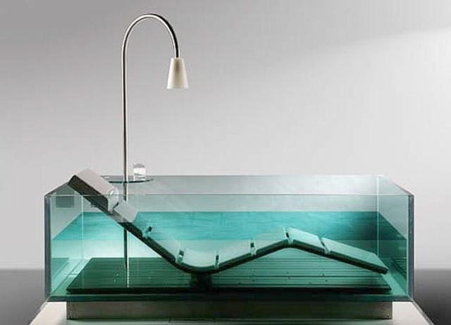 Noa glass bathtub (or water lounge) for Hoesch