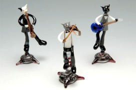 Glass cats http://www.pinterest.com/pin/415034921879895882/