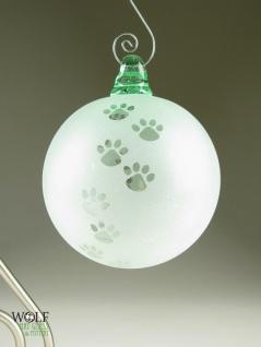 Wolf Glass - Recycled Glass Bottle Ornament Suncatcher Blown ECO Dog Lover Pet Lover Paw Print http://www.pinterest.com/pin/202943526927980742/