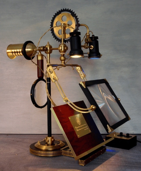 """The Ferryman"". Reading + Research Lamp, Art Donovan"