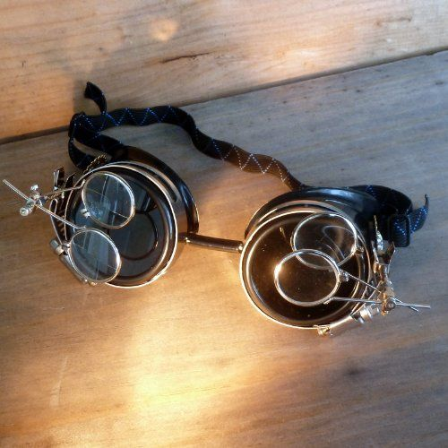 Steampunk Anthropologist Goggles With Magnifying Glasses , steampunkgoggles.com